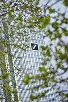 Deutsche Bank Zentrale mit Logo