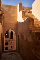 Desert castle Qasr Kharana inside view