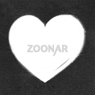 Grunge white heart