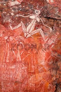 Aboriginal rock art at Nourlangie