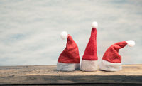 Three hat of Santa