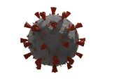 3D Rendering of contagious HIV AIDS, Flur or Coronavirus isolated 3d render