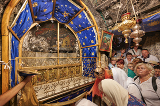 Jerusalem Bethlehem Israel. The grotto of the nativity birthplace of Jesus