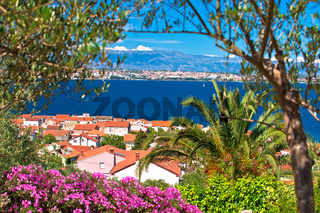 Zadar archipelago. Island of Ugljan and Adriatic sea colorful nature view