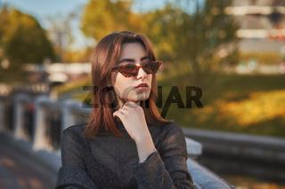 sad autumn girl