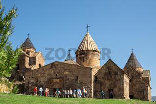 Armenian monastery Goshavank located in the village of Gosh