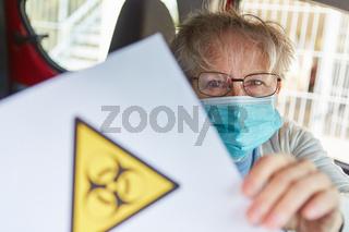 Warnung vor Biogefährdung wegen Covid-19