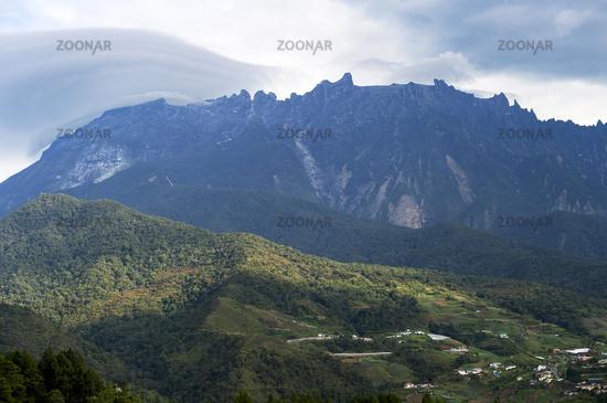 Mount Kinabalu is the highest mountain on the island of Borneo, Borneo, Malaysia