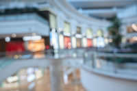 shopping mall in blurred