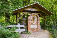 Horse Monument, palace garden Ludwigslust, Mecklenburg-West Pomerania, Germany