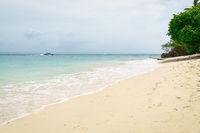 Wonderful beach of Cayo Levantado