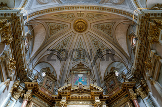 VALENCIA, SPAIN - FEBRUARY 27 :  Interior view Church of the Sacred Heart of Jesus in Valencia Spain on February 27, 2019