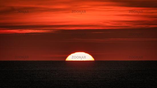 Sunset through Wildfire Smoke, Northern California, USA