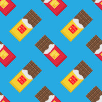 Milk Brown Chocolate Bar Seamless Pattern. Sweet Food