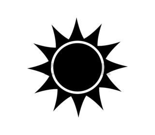 sun icon illustrated in vector on white background