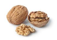 Ripe walnuts