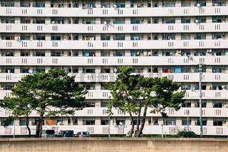 Apartment building in Fukuoka, Japan