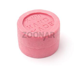 Pink natural handmade soap