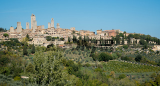 Historical city of San Gimignano in Sienna province in Tuscany area, Italy