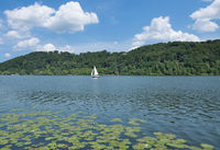 Lake Baldeneysee in Essen,Ruhrgebiet,North Rhine westphalia,Germany