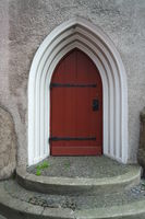 Arched door in an alcove, Bornholm