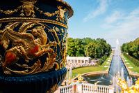 Peterhof Palace garden, fountain in Saint Petersburg, Russia