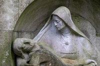 Grabstein auf dem Melatenfriedhof in Köln