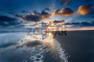 sunrise over North sea beach
