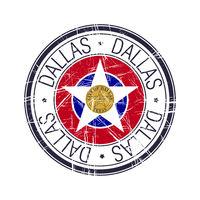 City of Dallas, Texas vector stamp