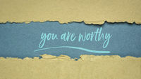 you are worthy - inspirational note