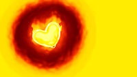 heart in flames background
