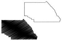Saguache County, Colorado (U.S. county, United States of America,USA, U.S., US) map vector illustration, scribble sketch Saguache map