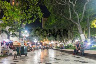 VERACRUZ, MEXICO 20 JUNE 2018: Nightlife in the city