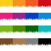 Colorful Paint Border Set With Isolated White Background