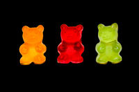 Gummy bears, molluscs, colored molluscs, sweets