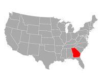 Karte von Georgia in USA - Map of Georgia in USA