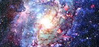 Spiral Galaxy. Elements of this image furnished by NASA