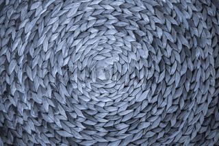 Dunkelblaues Muster aus geflochtenem Schilf