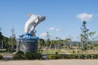 THAILAND CHIANG KHONG MEKONG CATFISH MONUMENT