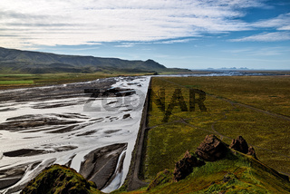Majestic river bed in Iceland
