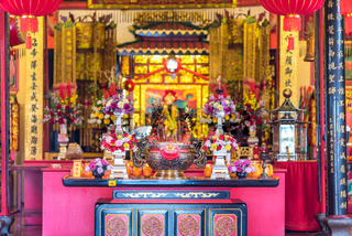 Tempel der Teochew Chinesen, der Hiang Thian Siang Ti Temple in Kuching auf Borneo
