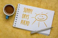 sunny days ahead inspirational note and sketch