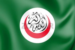 3D Flag of Organisation of Islamic Cooperation. 3D Illustration.