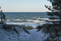 evening mood at the Baltic Sea