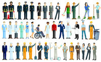 Various professions, portrait - vector Illustration