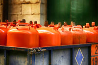 Orange LPG tanks