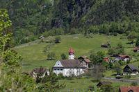 swiss village of Amsteg and Silenen in canton uri,
