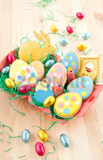 Bunte Kekse zu Ostern