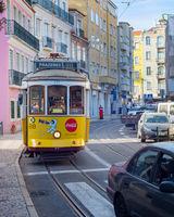 tram old famous street Lisbon