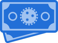 Vector Flat Flu Virus Banknotes Icon